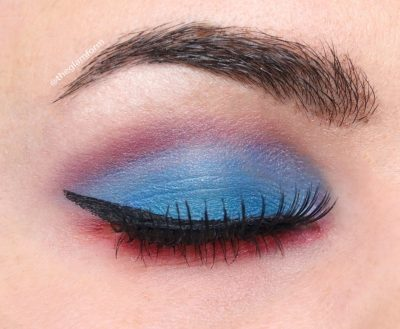 NYX Ultimate Eyeshadow Palette Blue look